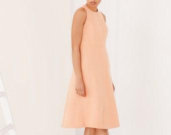 Peach Midi dress FLORA