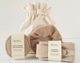 Home Spa Gift Set - Brown Organic Cotton