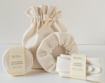 Home Spa Gift Set - Ivory Organic Cotton