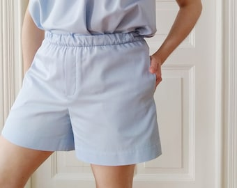 Organic Cotton EVA Shorts - Sky Blue