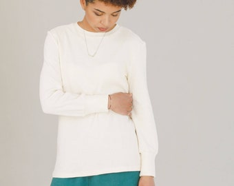 Ivory organic cotton sweater NICOLE