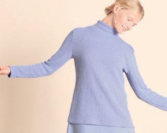 Eco friendly lavender turtleneck sweater PARK