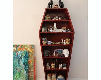 Full Size Coffin Book Shelf