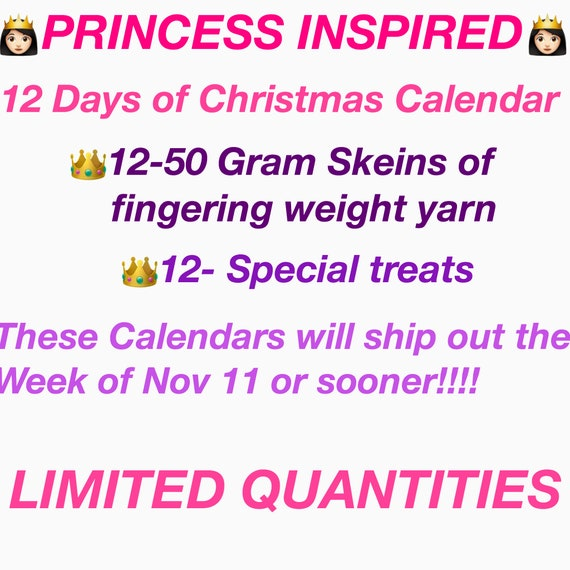 Last Day To Ship For Christmas 2019.Princess Inspired 12 Days Of Christmas Calendar Will Ship The Week Of Nov 11 Or Sooner
