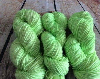 Sour Apple on worsted