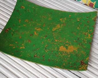 Grass green shabby chic tray