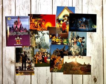 Vintage Walt Disney World Magic Kingdom Postcards, 10 Magical Memories Postcards, Vintage Disney Decor, Disney Scrapbook, Disney Gifts