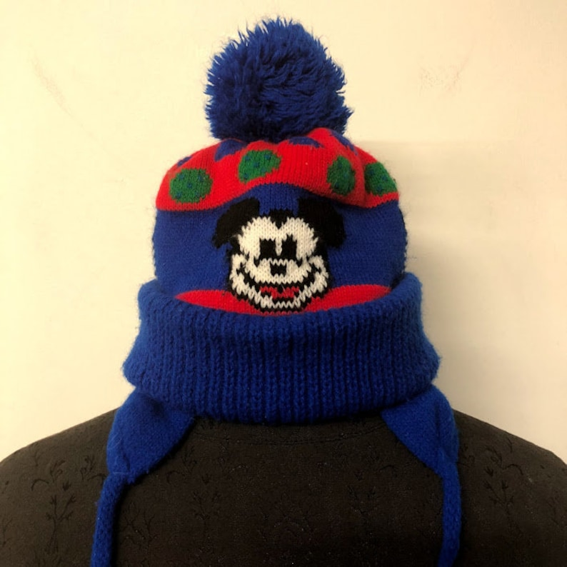 5324381855c Vintage Disney Mickey Mouse Ear Flap Hat Vintage Mickey Mouse