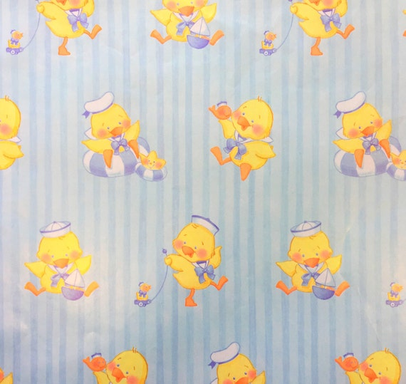Vintage Gift Wrap Vintage Baby Shower Wrapping Paper Sailor