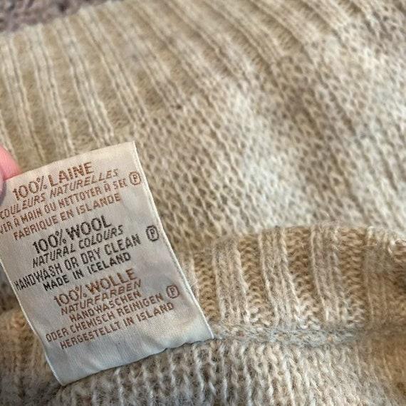 Vintage Hilda Ltd 100% Pure Wool Tan Knit Sweater… - image 8