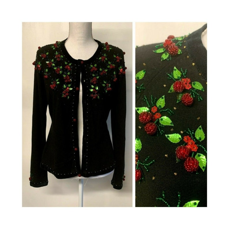Embroidered Fruits Cardigan