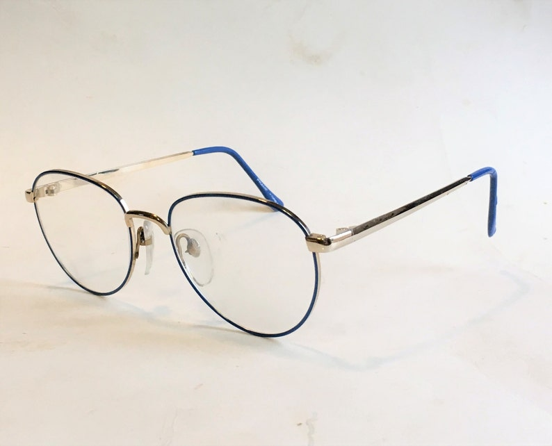 f5649707e58c7 Vintage 80s Eyeglasses Electric Blue Vintage Eyeglasses