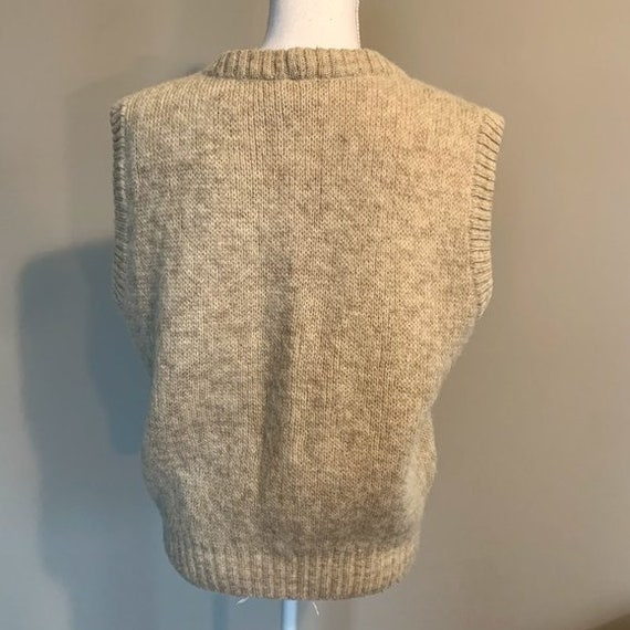 Vintage Hilda Ltd 100% Pure Wool Tan Knit Sweater… - image 6