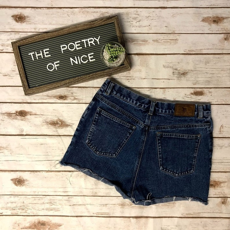 bff82b2f Vintage Ralph Lauren Hi Rise Cut Off Jean Shorts 90s Ralph | Etsy