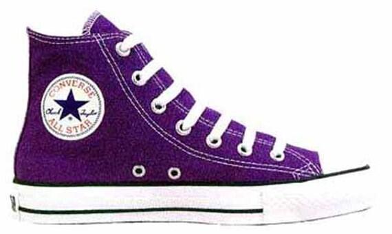 Converse Chuck Taylor All Star Hi Top 1J622 Purple Brand New