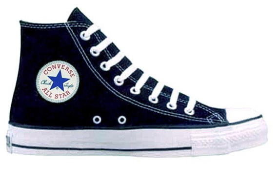 Vintage Converse Chuck Taylor All Star USA Made Black HI Tops