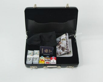 1:6 Scale Briefcase With Gold Bars Model Mini Toys Set For 12 in Action Figure