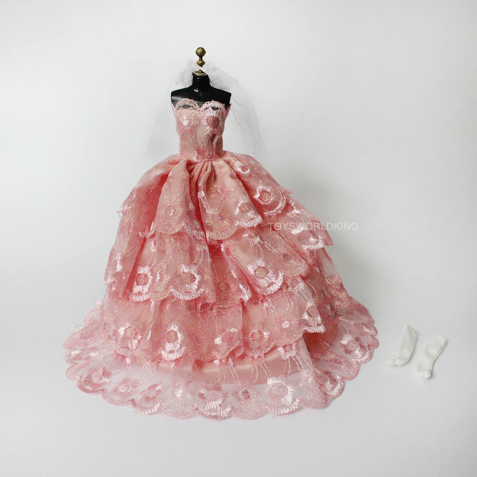 1/6 escala rosa muñeca vestido velo guantes modelo fijado para BJD ...
