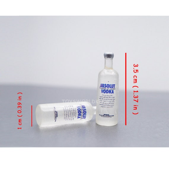 """2 X 1//6 Scale or 1//12 Scale Mini Absolut Vodka 3.5 cm Model Toys For 12/""""in Doll"""