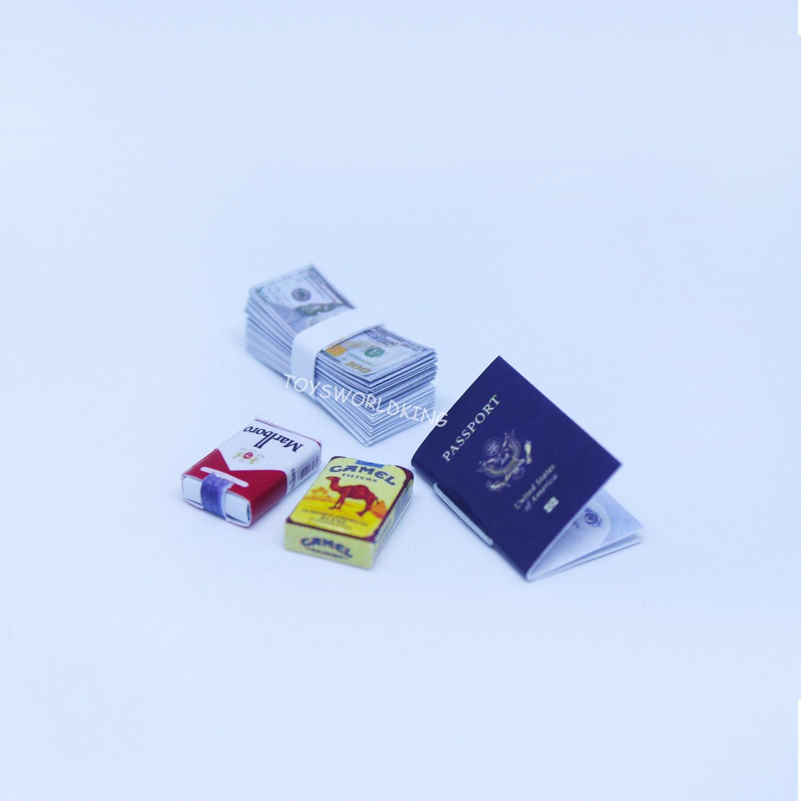 1 6 Scale Passport Cigarette Packs Cash Model Handmade Mini Etsy