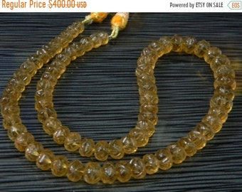 ON SALE 80/% DIscount Exclusive Quality Crystal and Bear Quartz Carving Roundel Beads Briolette 12 Inch Strand Size 7-8 MM Approx