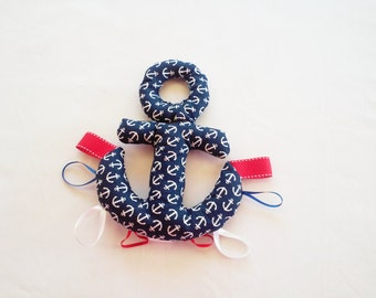 Navy Anchor taggie toy