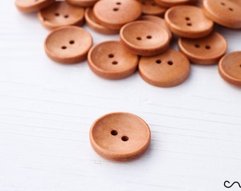 6 Novelty Wood Buttons Striking Summer Dresses BUT002