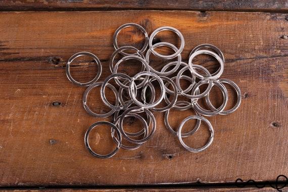 10x Steel Keyring Split Key Rings Nickel Hoop Ring Nickel Plated Steel Loop Pip