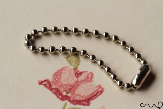 New Metal Ball Chains 10cm Long USB Key Ring Shrink Art Craft High Quality VAT