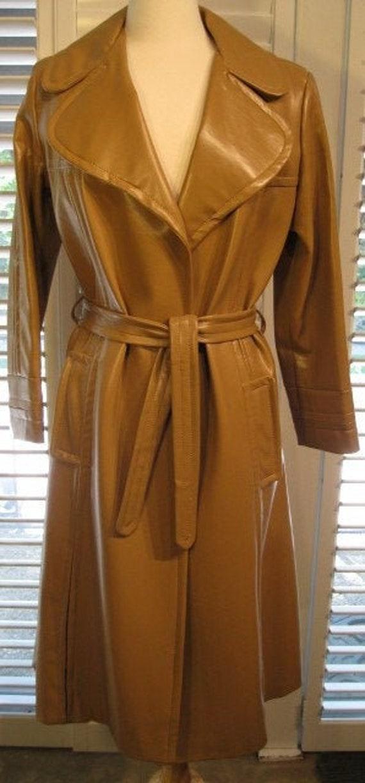 Gerda For Partners 3 Vintage 1970s Tan PVC Coat