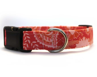 Chatsworth Floral Coral Collar