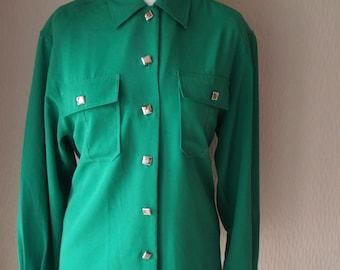 Emerald Green Feminella Ladies Blouse