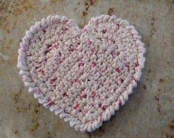 Valentines handmade heart coasters