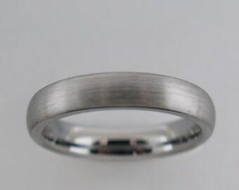 Bridal Wedding Bands Decorative Bands Stainless Steel Polished Black IP Ridged Edged Ring Size 10.5