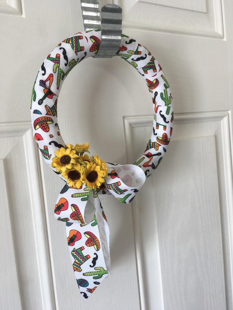 Small Southwest Ribbon WreathSunflowers