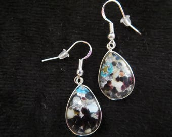 Earrings in silver with Pearl drops