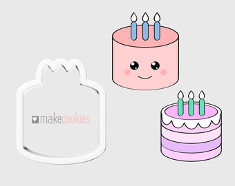 Birthday Cake Cookie Cutter And Slice