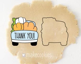 Pumpkin Truck Cookie Cutter, Truck With Pumpkins For Thanksgiving