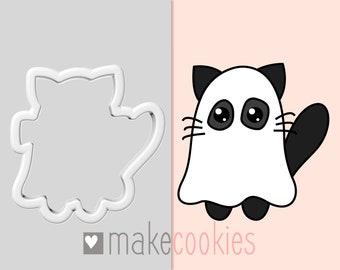 Halloween Cat Cookie Cutter, Halloween Cookie Cutters, Cat Ghost