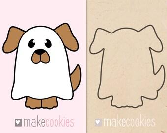 Dog Ghost Cookie Cutter, Halloween cutters, Fondant cutters
