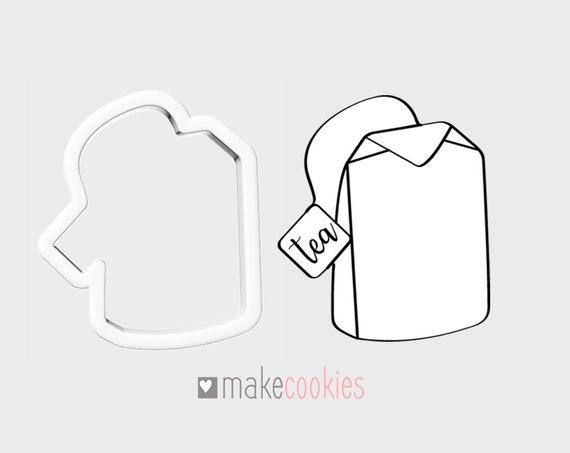 Teabag Cookie Cutter L Fondant Cutters L 3d Printed L Clean