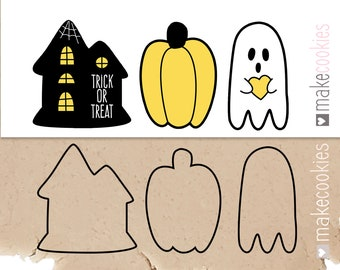 Haunted House Cookie Cutter Set, Halloween Cookie Cutters