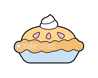Pie Cookie Cutter, Thanksgiving Cookie Cutters, Apple pie, Pumpkin pie