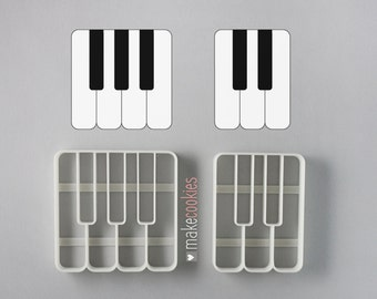 Piano Keys Cookie Cutters Set (2 pieces)