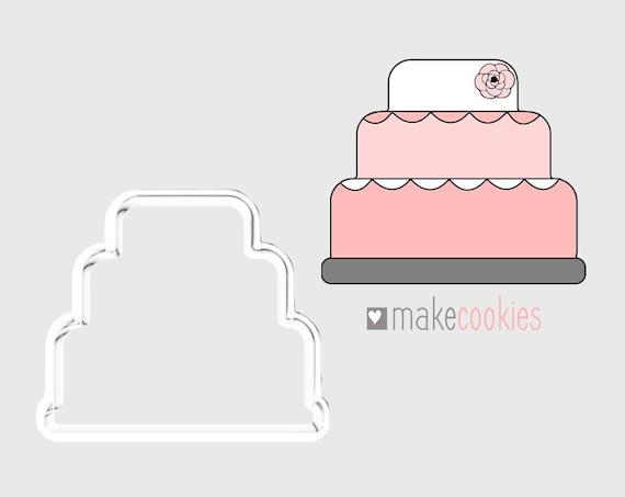 Wedding Cake Cookie Cutter Birthday