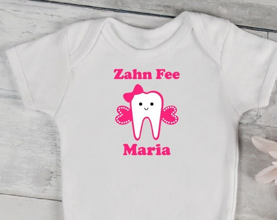 Personalized ironing image/t-shirt tooth tooth fairy Tooth Fairy also with desired text Wish Color wasband wasband Flex, glitter, Flock, Effect