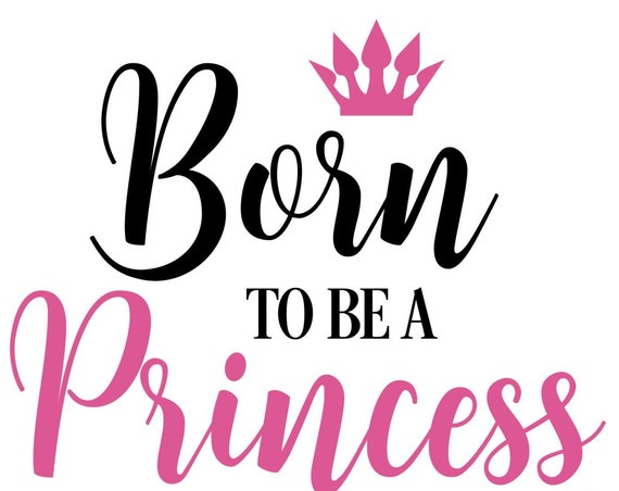 Ironing board DIY Born to be an princess Princess Crown Crown Iron on appliqué glitter flock effect Flex