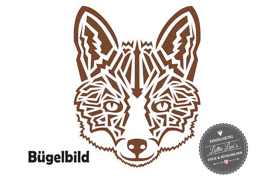 Bügelbild Tribal Fuchs Fox XXL