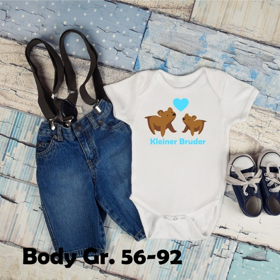 T-shirt/body little brother bear a. With name year Glitter Flex flock effect Custom individual bear brother sister XXL