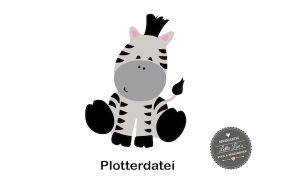 SVG cutting file plotter file baby Zebra